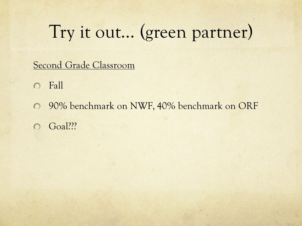 Try it out… (green partner)