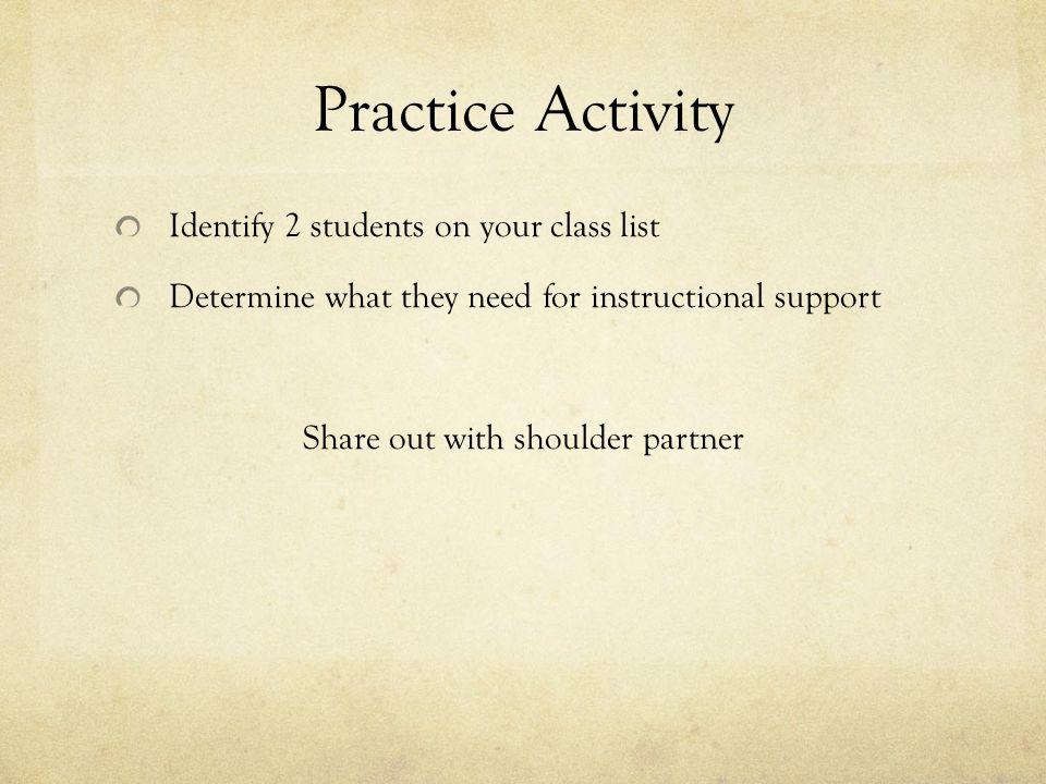 Share out with shoulder partner