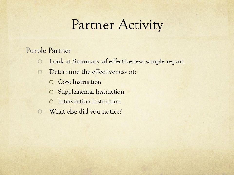 Partner Activity Purple Partner