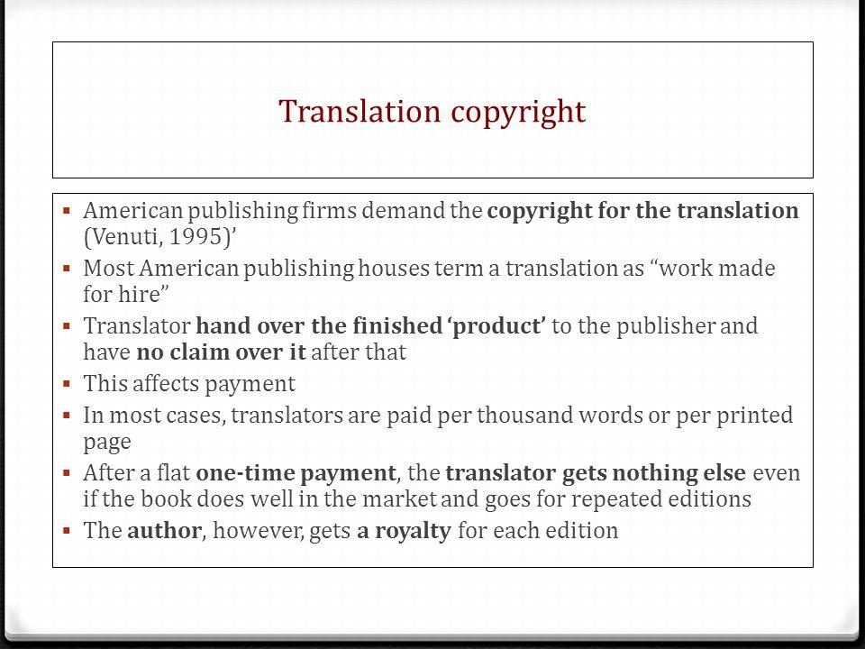 Translation copyright