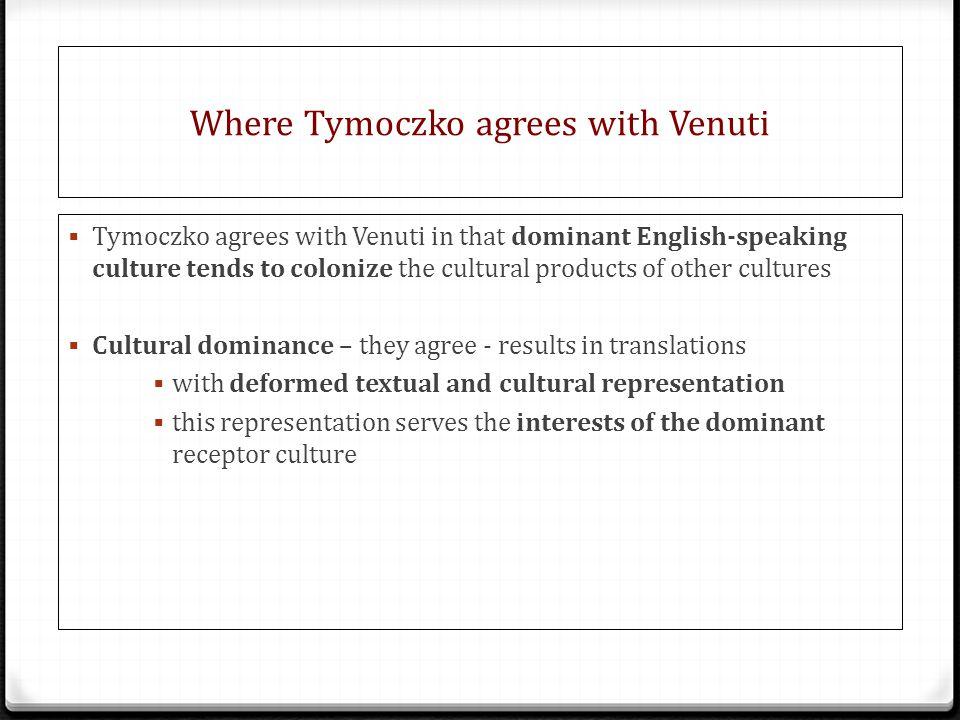 Where Tymoczko agrees with Venuti