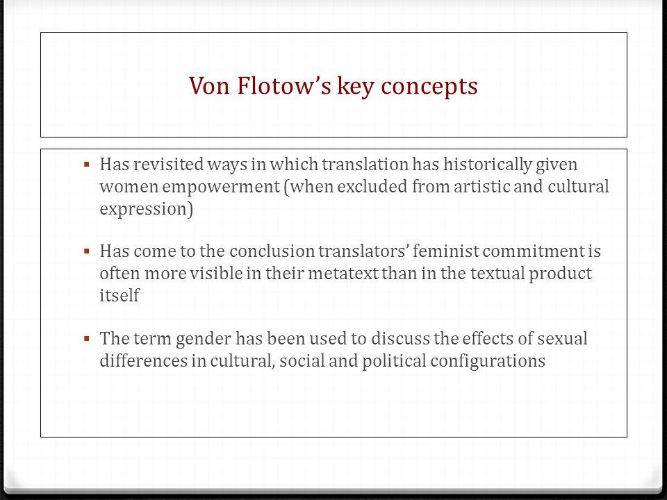 Von Flotow's key concepts