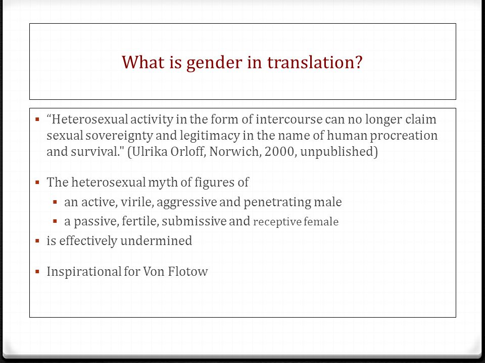 What is gender in translation