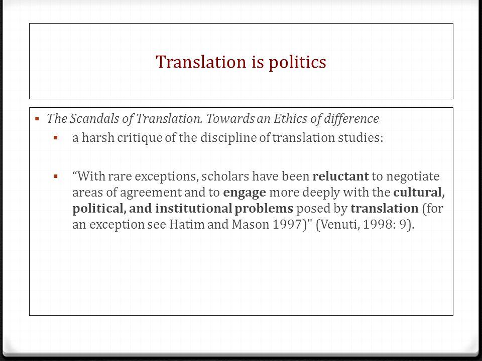 Translation is politics