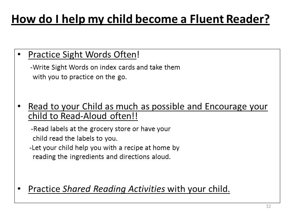 How do I help my child become a Fluent Reader