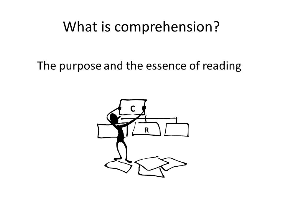 The purpose and the essence of reading