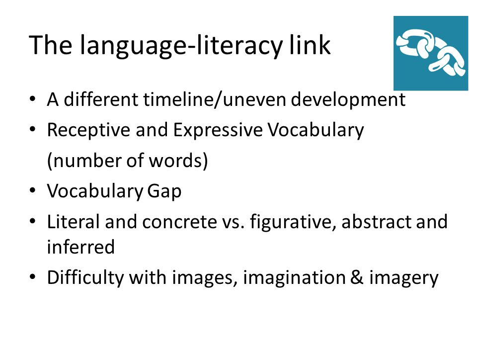 The language-literacy link