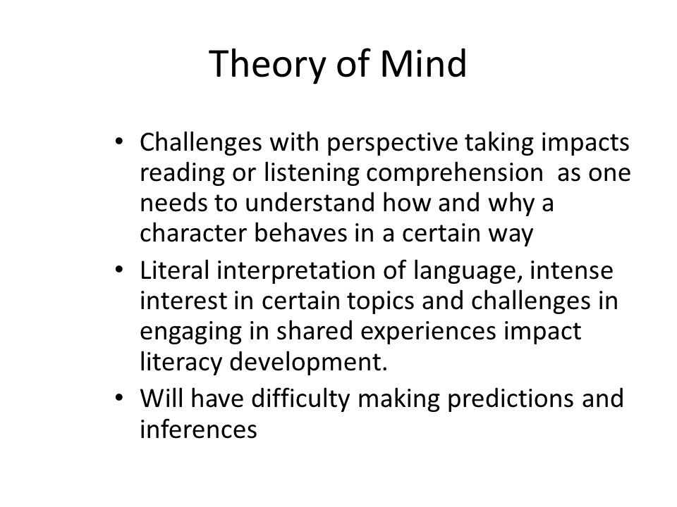 theory of mind and perspective reading pdf