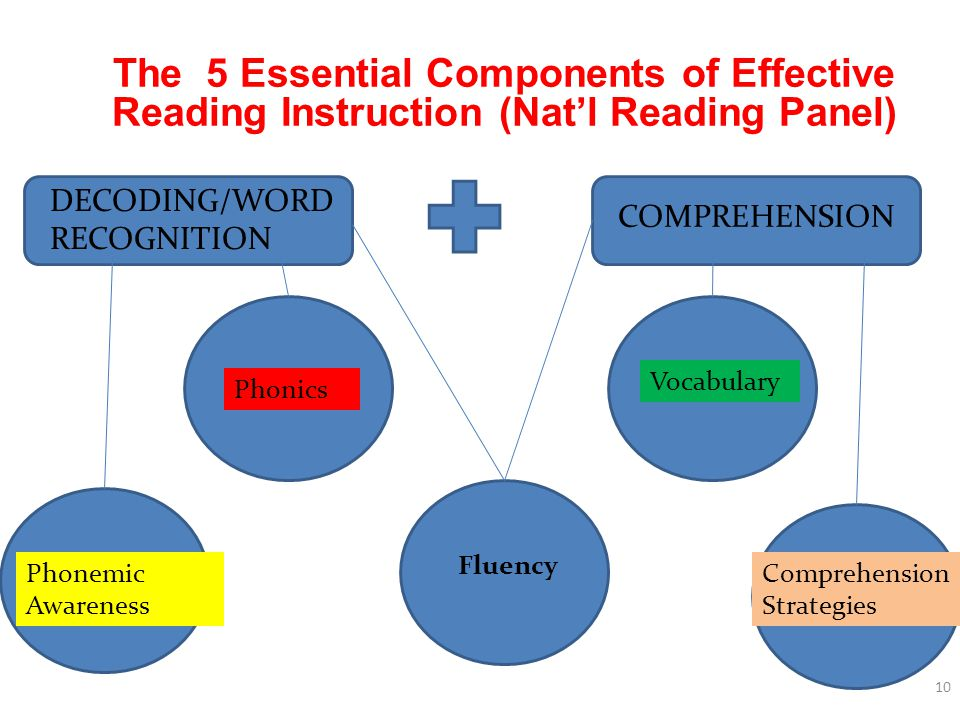 The 5 Essential Components of Effective Reading Instruction (Nat'l Reading Panel)
