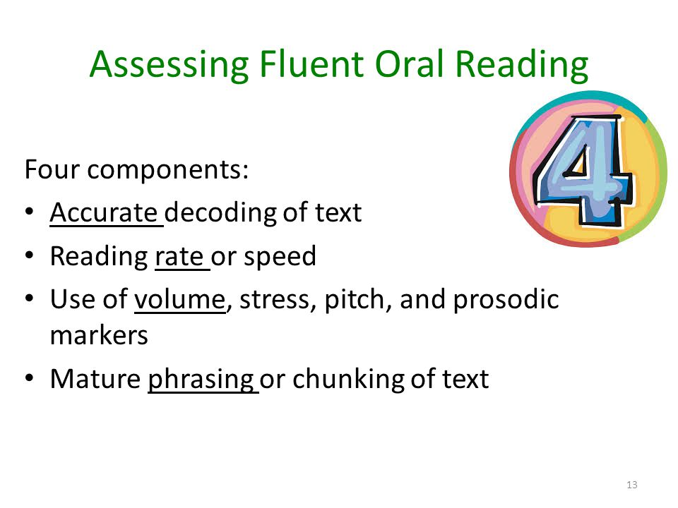 Assessing Fluent Oral Reading