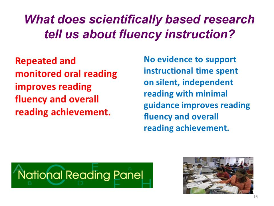 What does scientifically based research tell us about fluency instruction