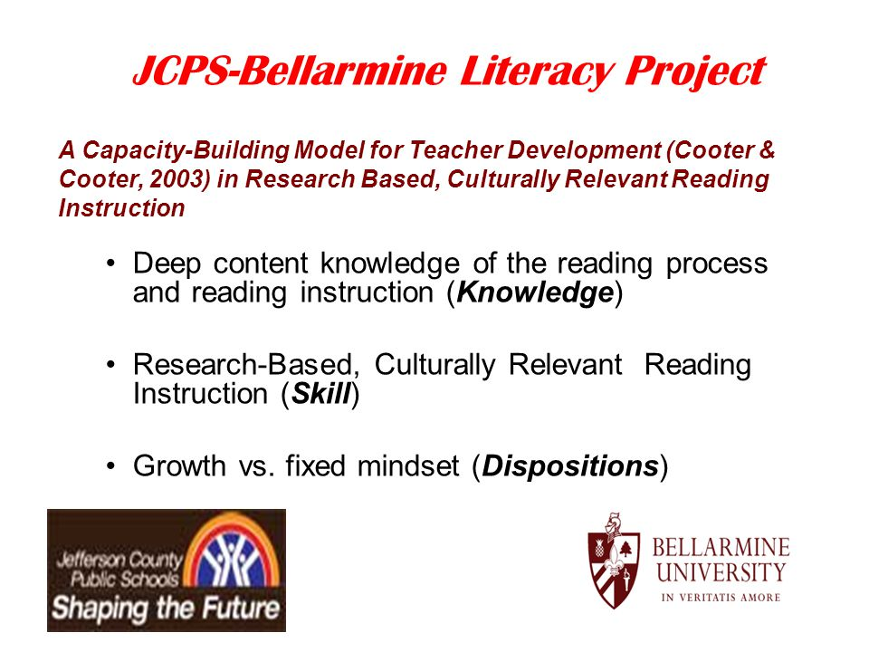JCPS-Bellarmine Literacy Project