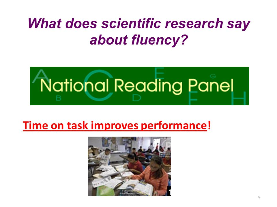 What does scientific research say about fluency