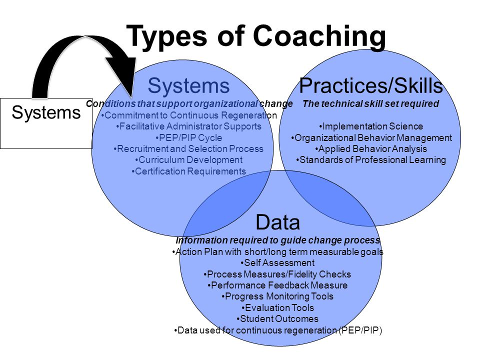 Types of Coaching Systems Practices/Skills Data Systems
