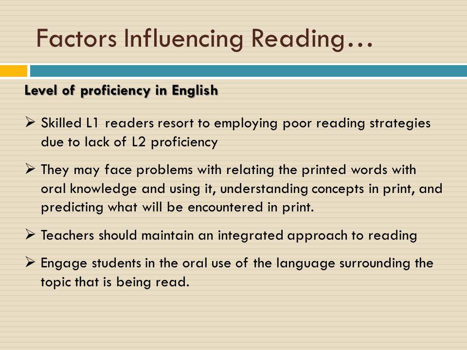 Factors Influencing Reading…