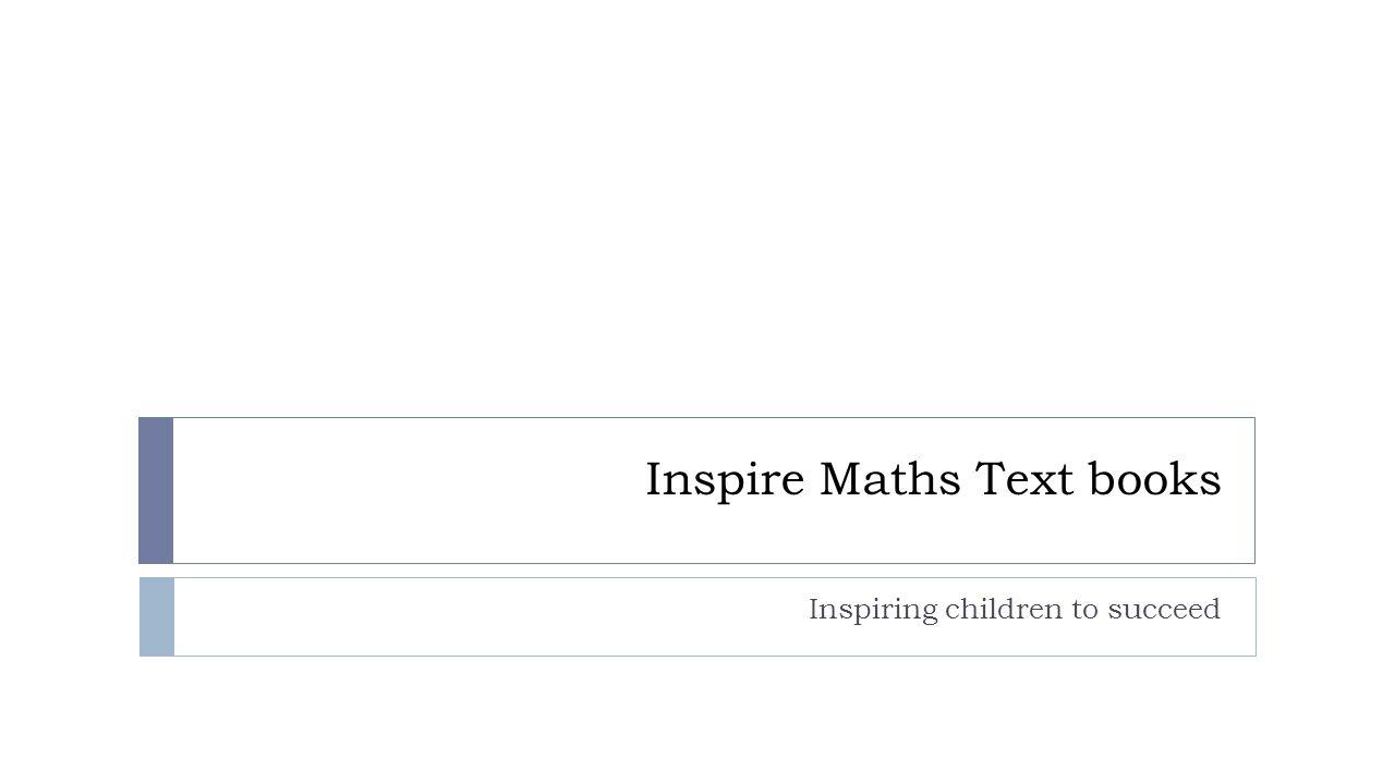 Inspire Maths Text books