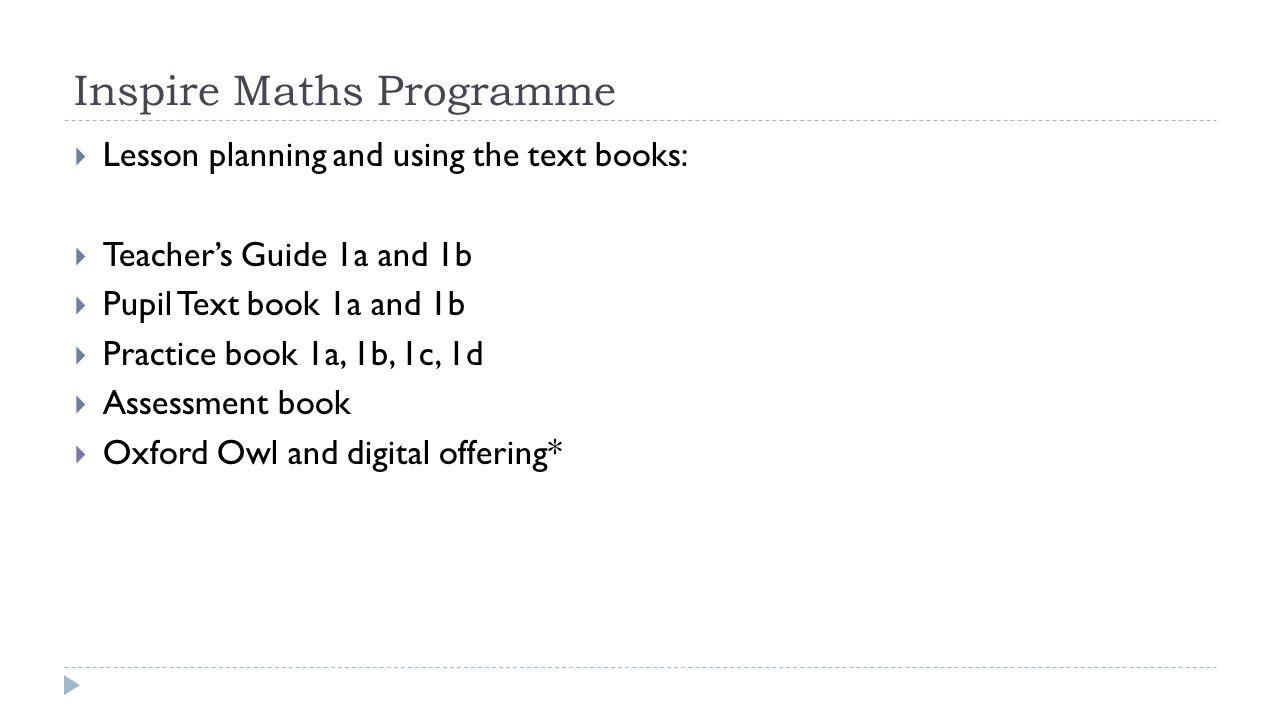Inspire Maths Programme