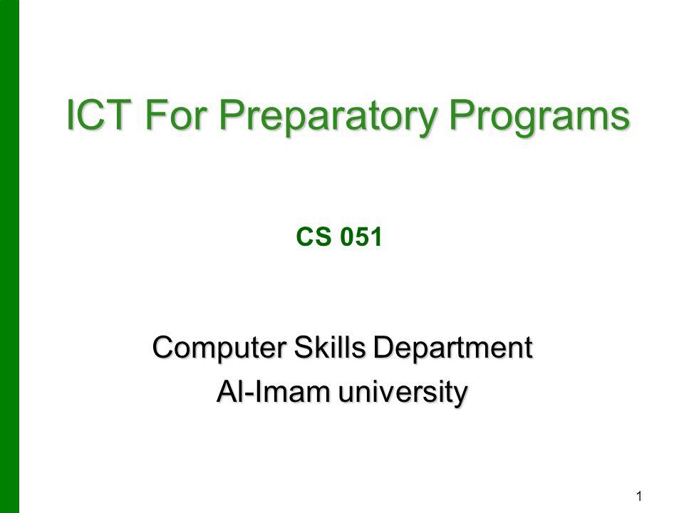 ICT For Preparatory Programs