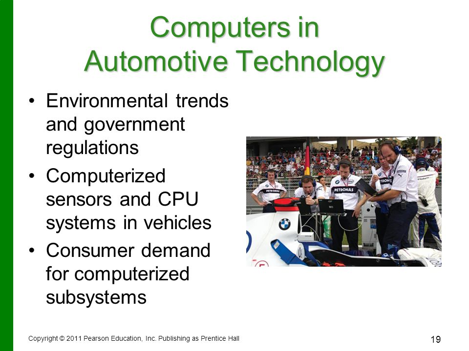 Computers in Automotive Technology
