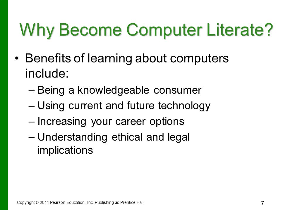 Why Become Computer Literate