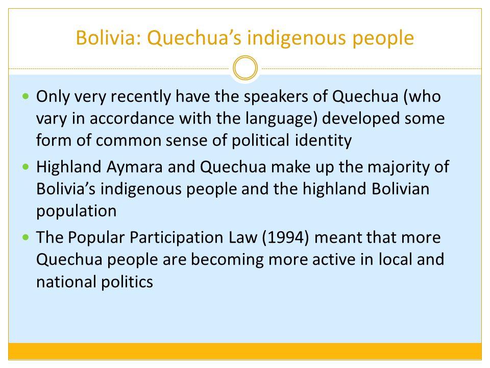 Bolivia: Quechua's indigenous people