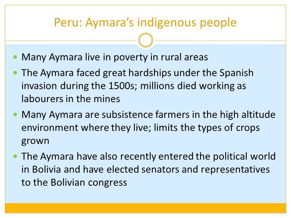 Peru: Aymara's indigenous people