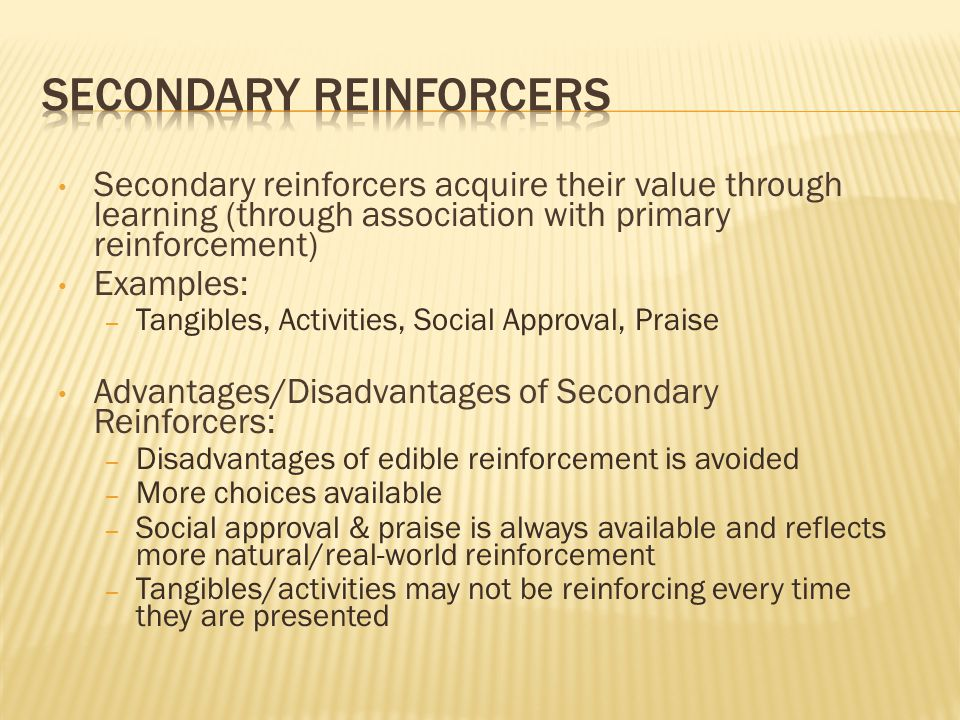 Secondary Reinforcers