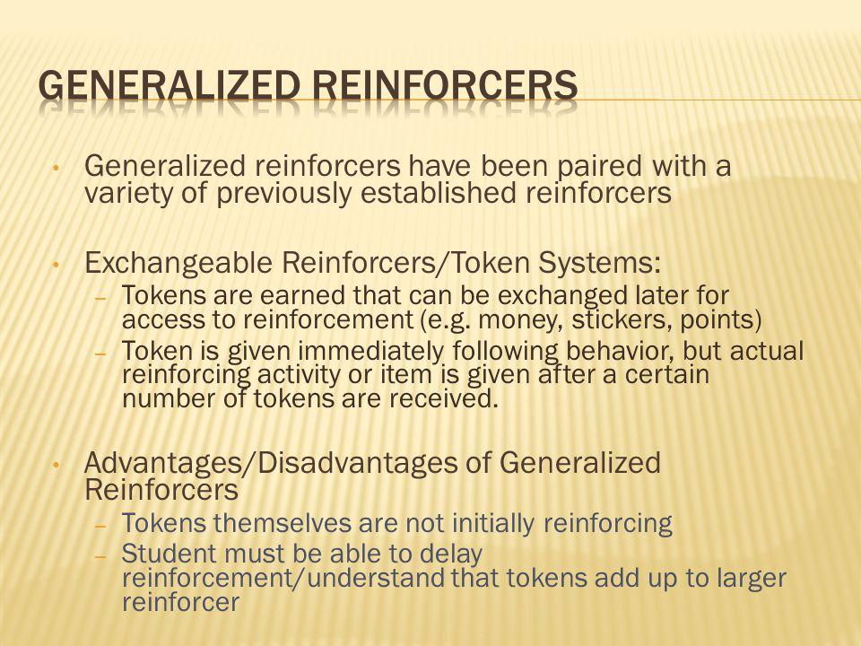 Generalized Reinforcers