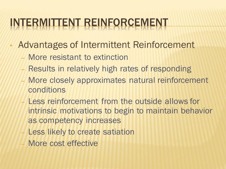 Intermittent Reinforcement