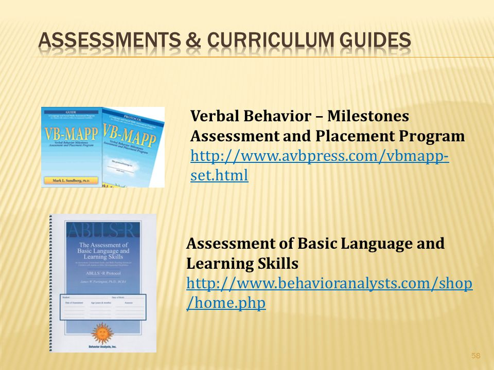 Assessments & Curriculum Guides