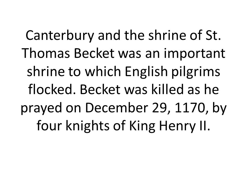 Canterbury and the shrine of St