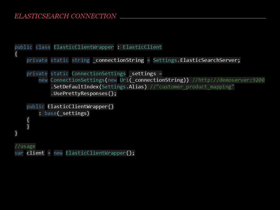 Elasticsearch connection