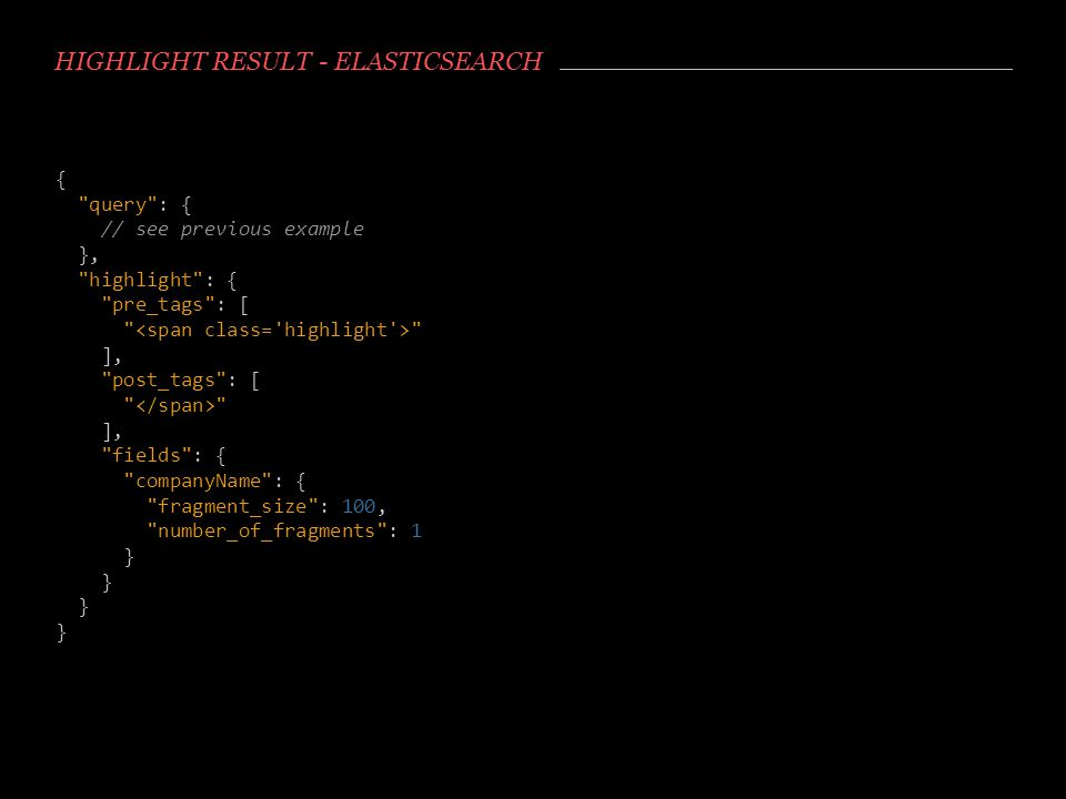 Highlight result - Elasticsearch