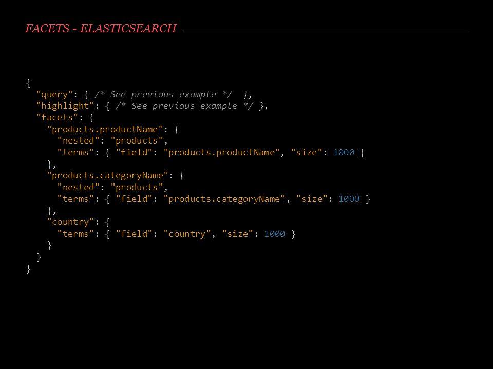 Facets - Elasticsearch