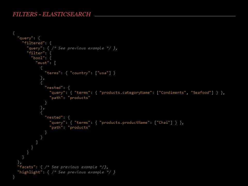 Filters - Elasticsearch