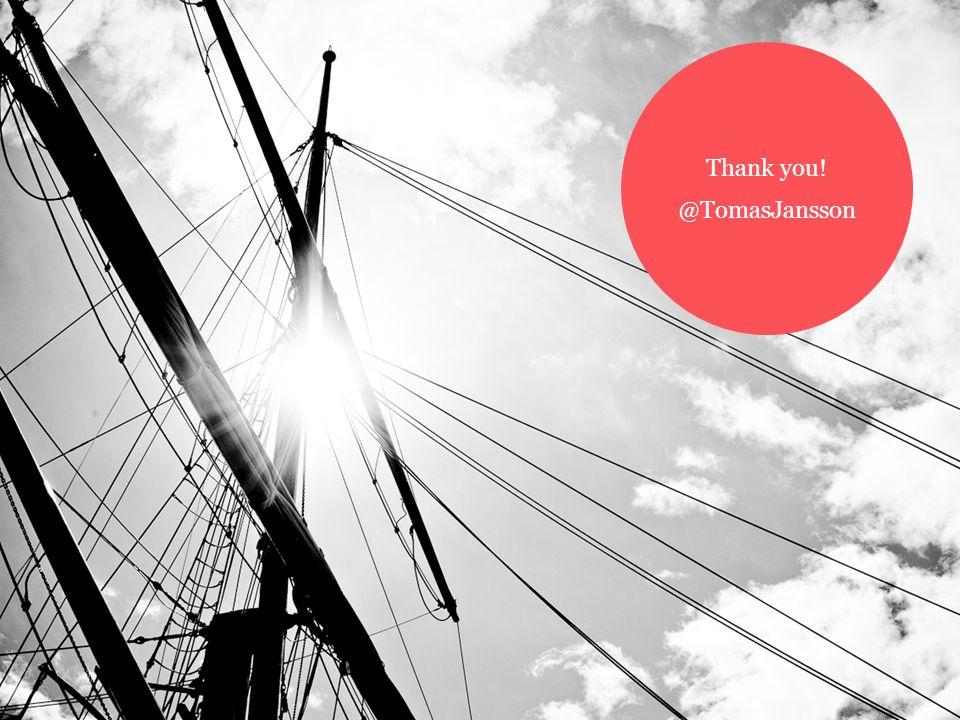 Thank you! @TomasJansson