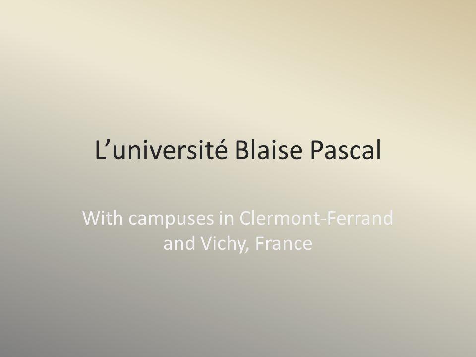 L'université Blaise Pascal