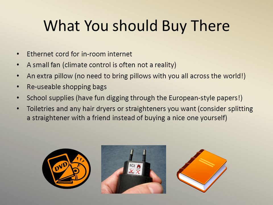 What You should Buy There