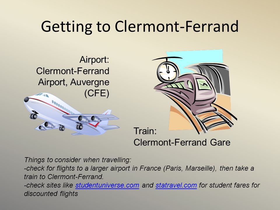 Getting to Clermont-Ferrand