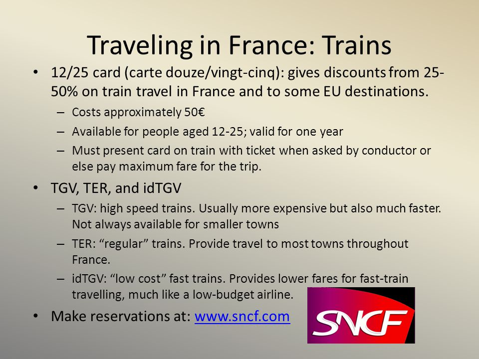 Traveling in France: Trains