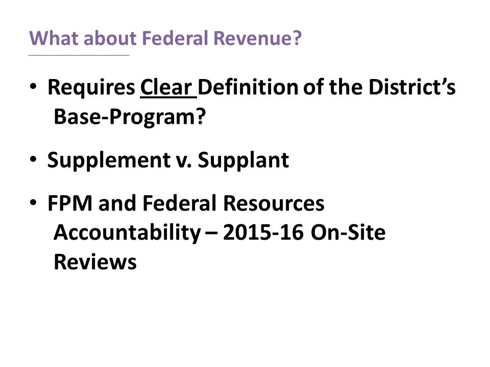 What about Federal Revenue