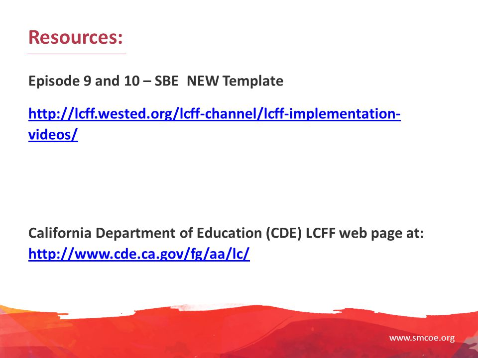 Resources: Episode 9 and 10 – SBE NEW Template
