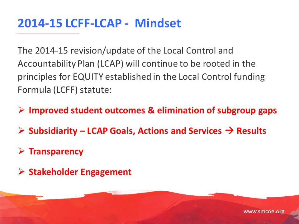 2014-15 LCFF-LCAP - Mindset