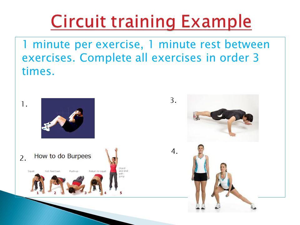 Circuit training Example