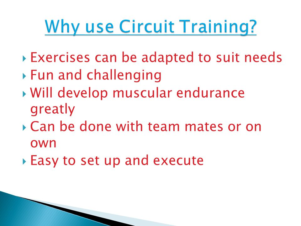 Why use Circuit Training