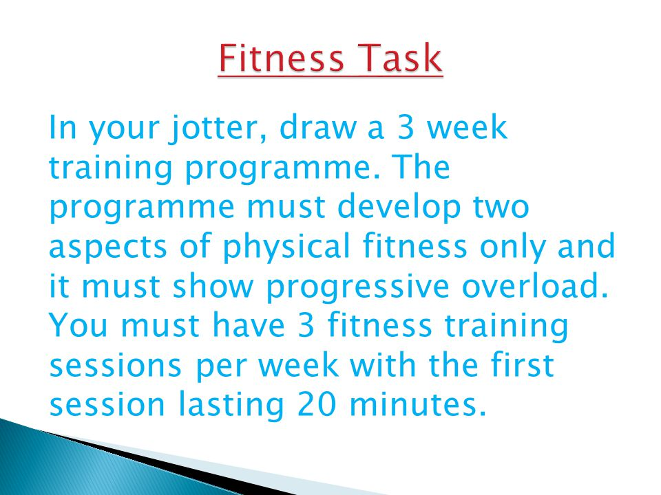 Fitness Task