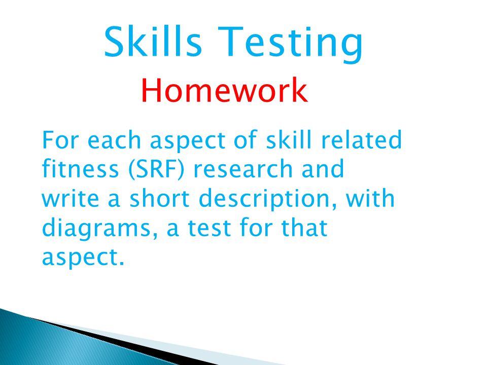 Skills Testing Homework