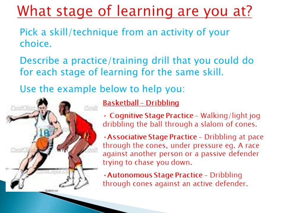 What stage of learning are you at