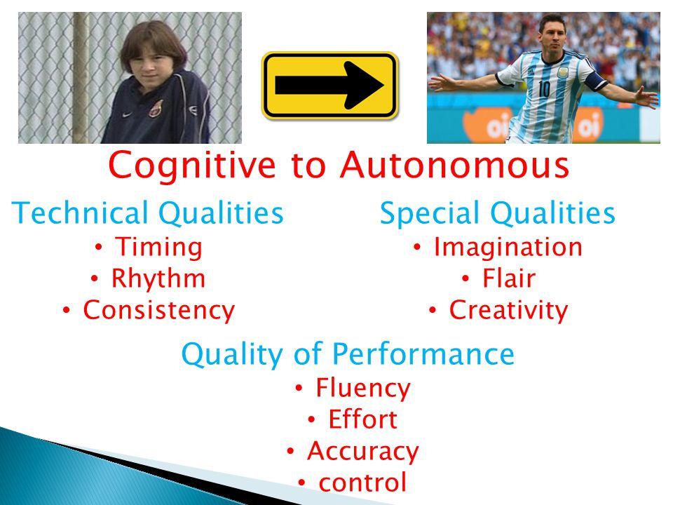 Cognitive to Autonomous