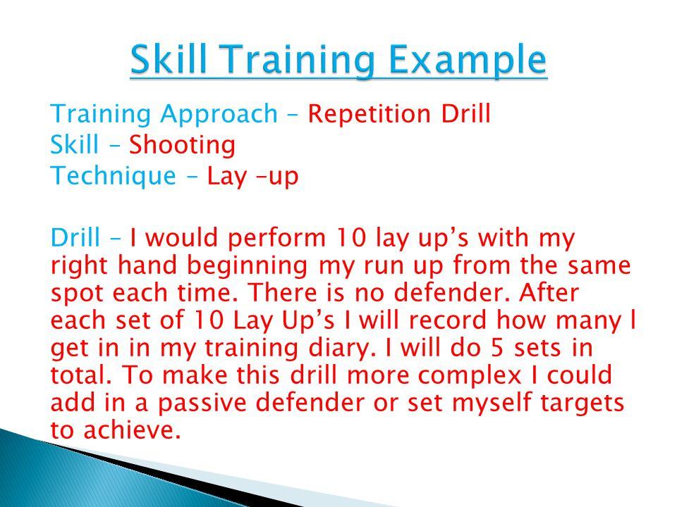 Skill Training Example